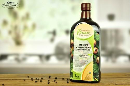 Sok energetyzujący z owoców nieszpułki 500ml