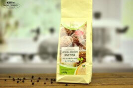 Muffinki orkiszowe -kasztanowe z owocami 400g - mieszanka