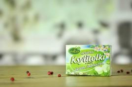 Ksylitolki o samku o zielone jabłuszko- drażetki 40g