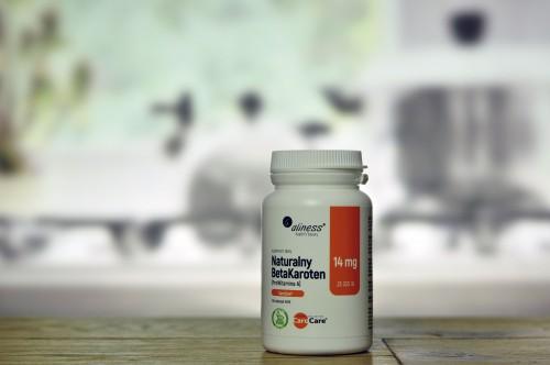 Naturalny BetaKaroten 14 mg (ProWitamina A) x 100 tab. vege