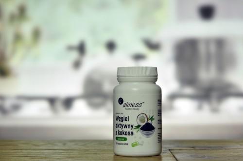 Węgiel aktywny z kokosa Food Grade 300 mg x 100 Vege caps.