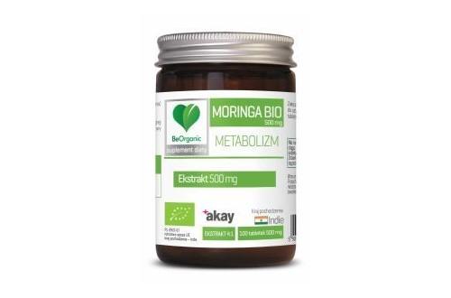 BeOrganic Moringa Bio 500 mg Metabolizm x 100 tabl