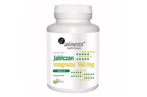 ALINESS Jabłczan Magnezu 140 mg z B6 (P-5-P) 100 kaps.
