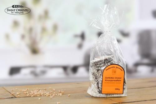 Ciasteczka orkiszowe w gorzkiej czekoladzie obsypane kokosem 200g