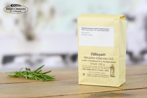 Herbata koprowa z zielem balsamicznym 100g