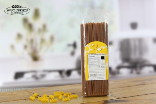 Spaghetti orkiszowe pełnoziarniste bezjajeczne 500G bio